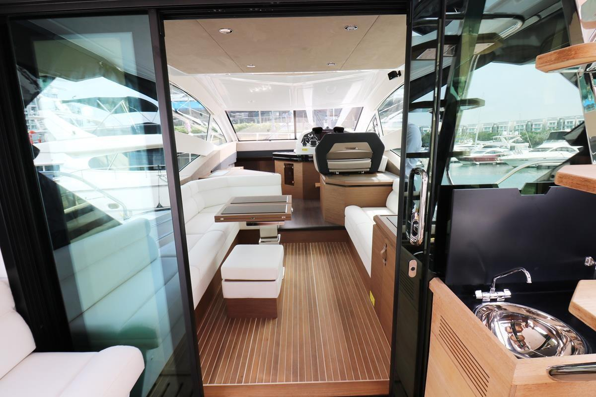 Aft saloon doors open