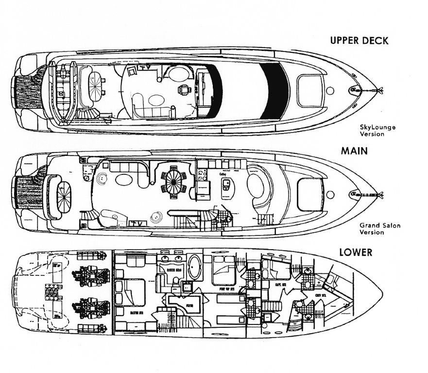 2001 Lazzara 80' Motor Yacht   HMY Yacht Sales