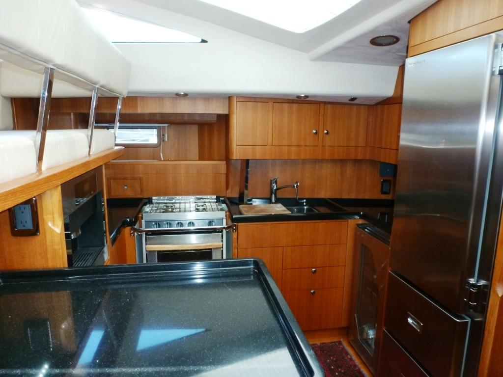 Spacious galley with many amenities