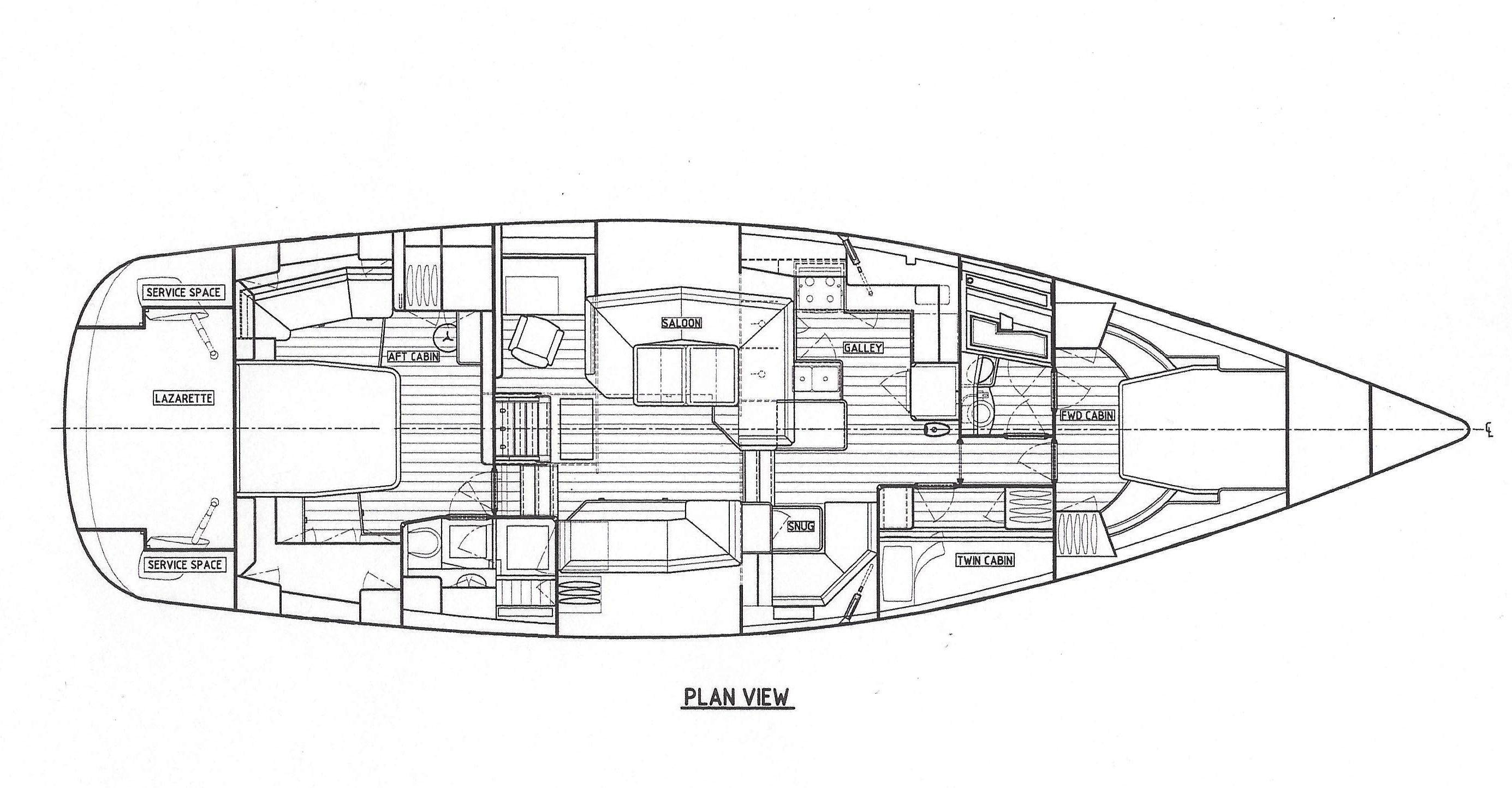 Southerly 57 standard layout
