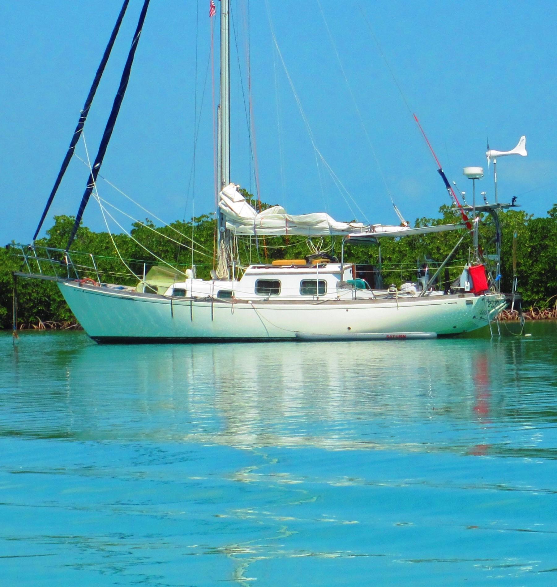 36' Seafarer Rhodes 36 Sloop 1971 No Hurricane Damage--Confirmed