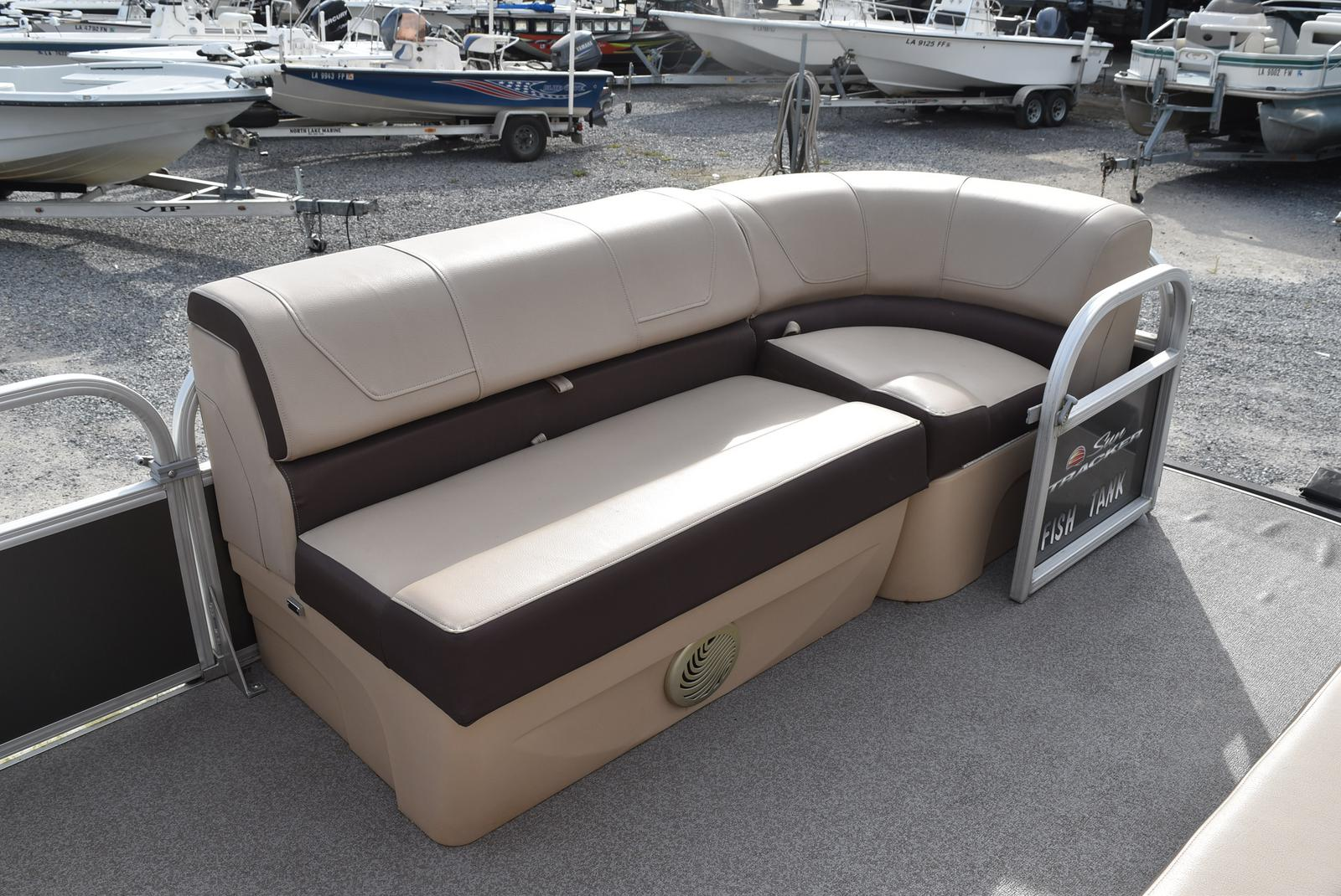 2018 Sun Tracker boat for sale, model of the boat is Party Barge 20 DLX, 90CT & Image # 13 of 14