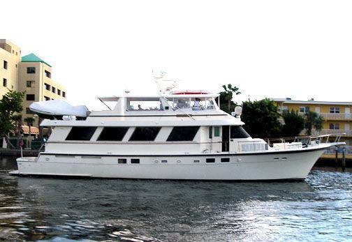 77' Hatteras Cockpit Motor Yacht