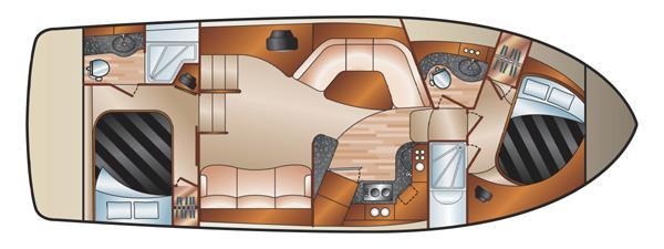 Silverton 35 Motor Yacht - Layout