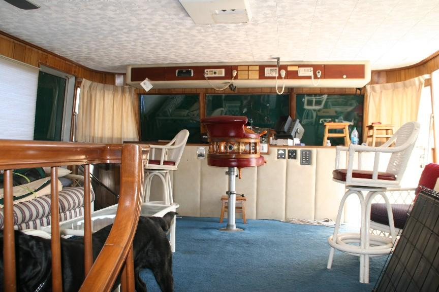 View from Galley to Salon/Helm Station