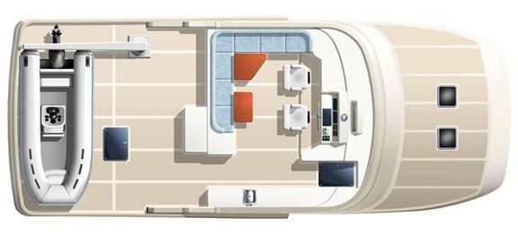 Plan View Flybridge and Boat Deck
