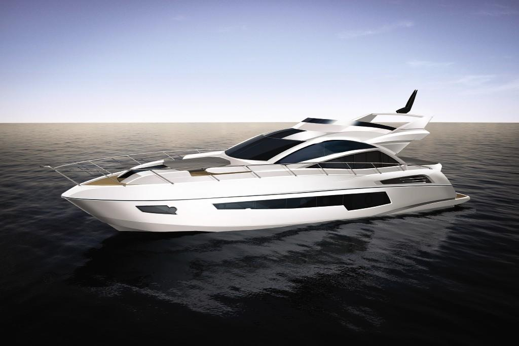Manufacturer Provided Image: Sunseeker 68 Sport Yacht Side Profile