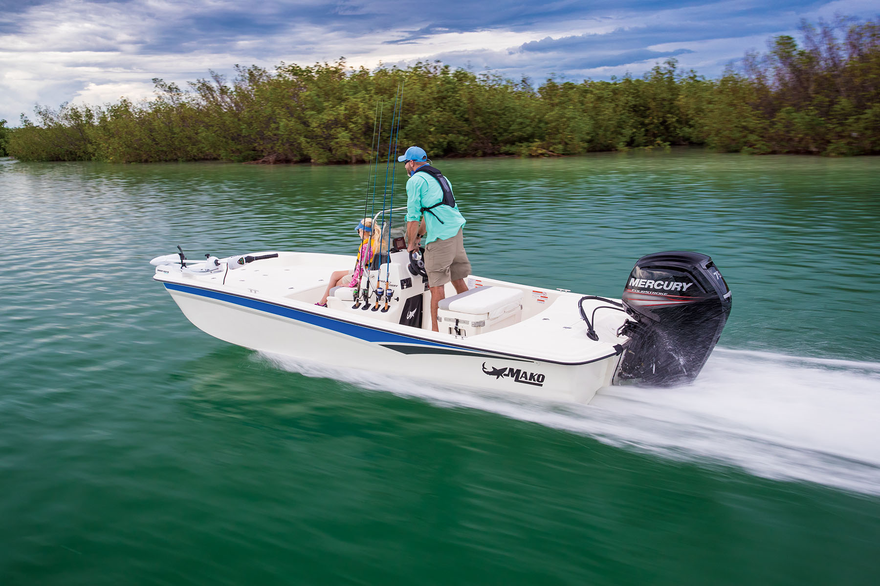 2020 Mako boat for sale, model of the boat is Pro Skiff 17 CC & Image # 3 of 10