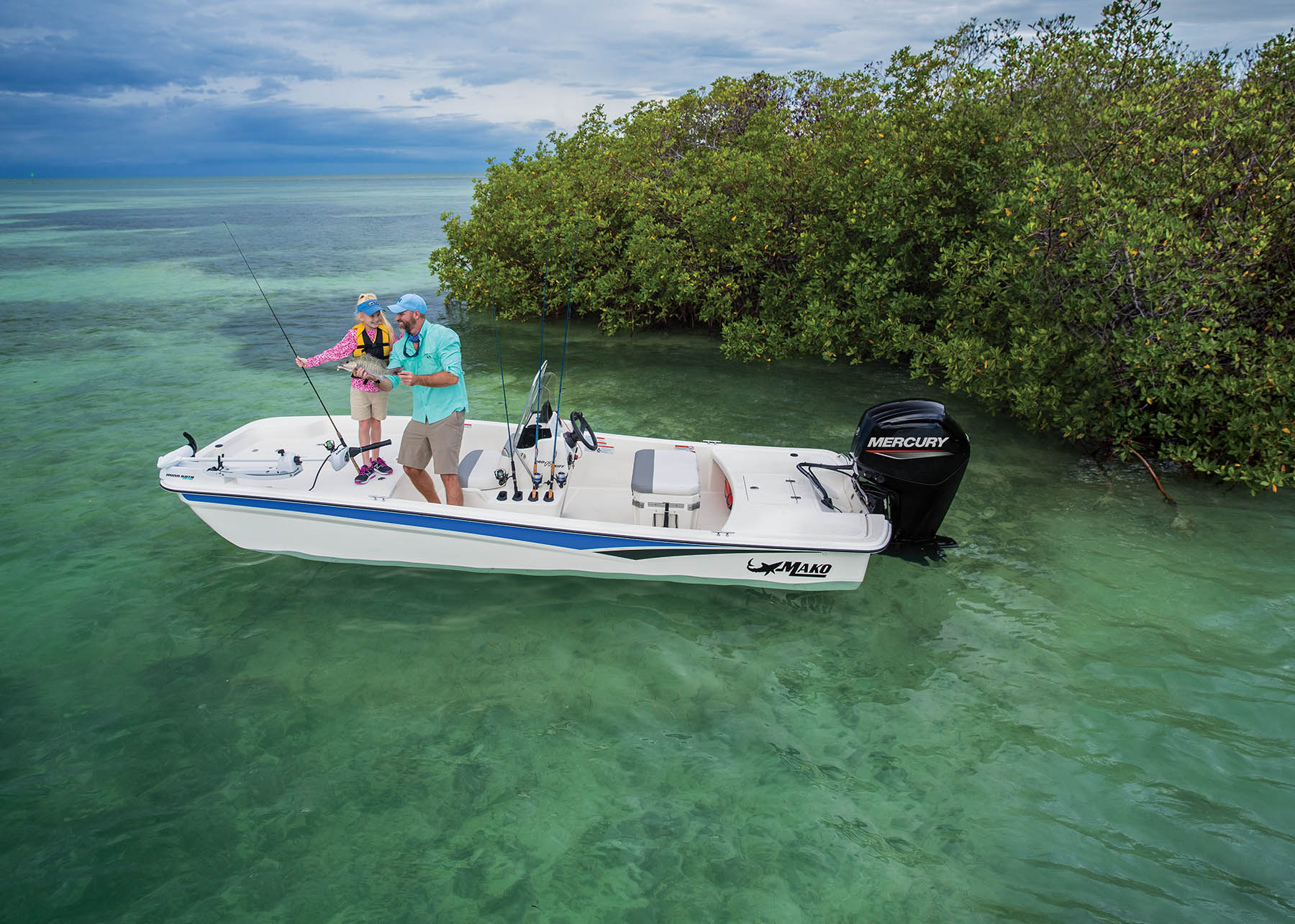 2020 Mako boat for sale, model of the boat is Pro Skiff 17 CC & Image # 6 of 10