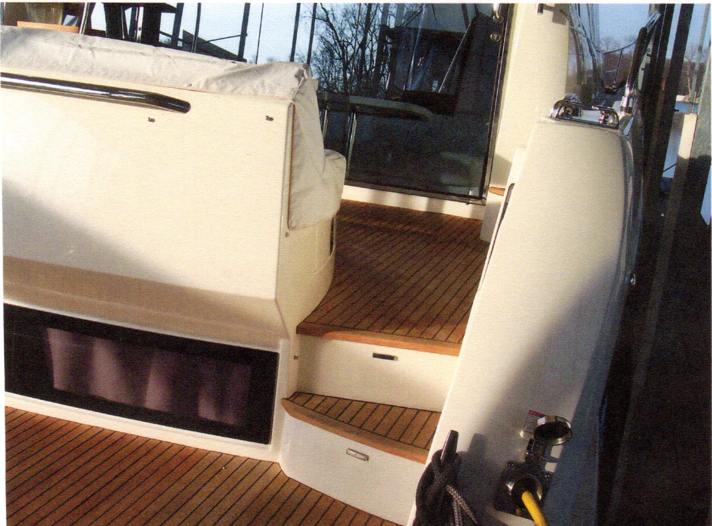 Swim Platform And Cockpit Teak Decking