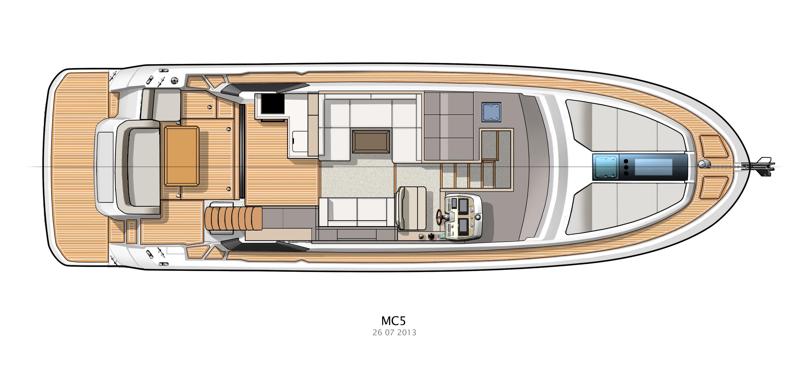 Cockpit/Galley and Salon Layout