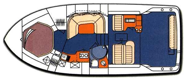 Sea Ray 370 Express Cruiser - Floorplan