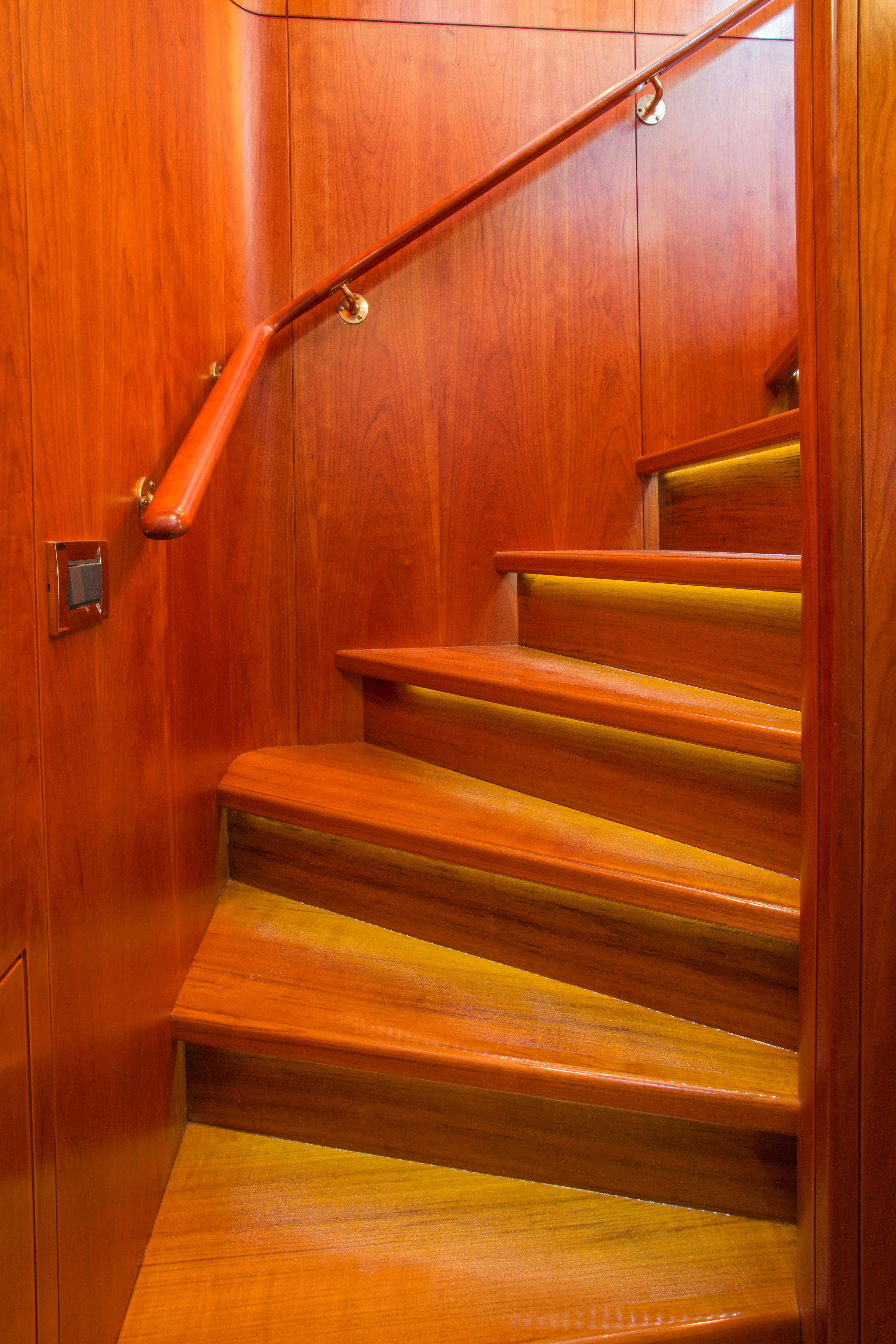 New Teak Stairways