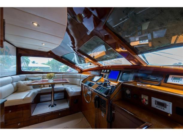 Dinette forward and helm