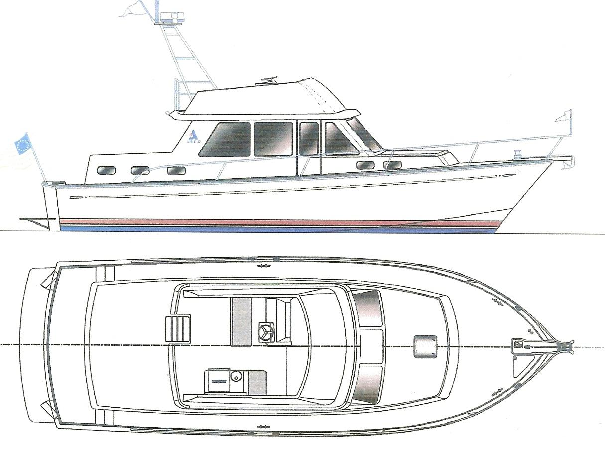 The New 43' 2014 Albin North Sea Cutter With Layout