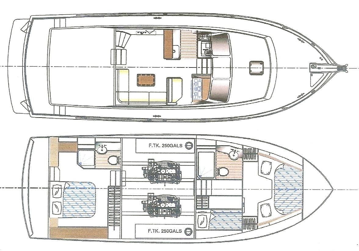 The New 43' 2014 Albin North Sea Cutter With Interior Layout