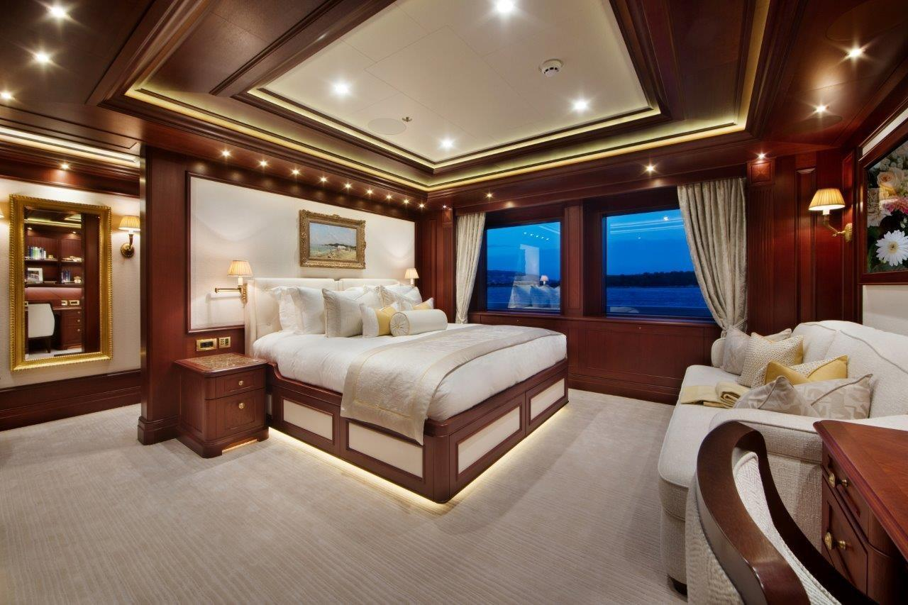 279 Lurssen One of two VIP Suites, each with Convertible Couch