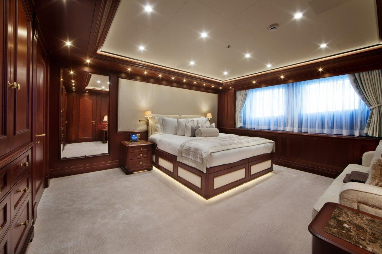 279 Lurssen One of Two Main Deck Guest Suites, each with Convertible Couch