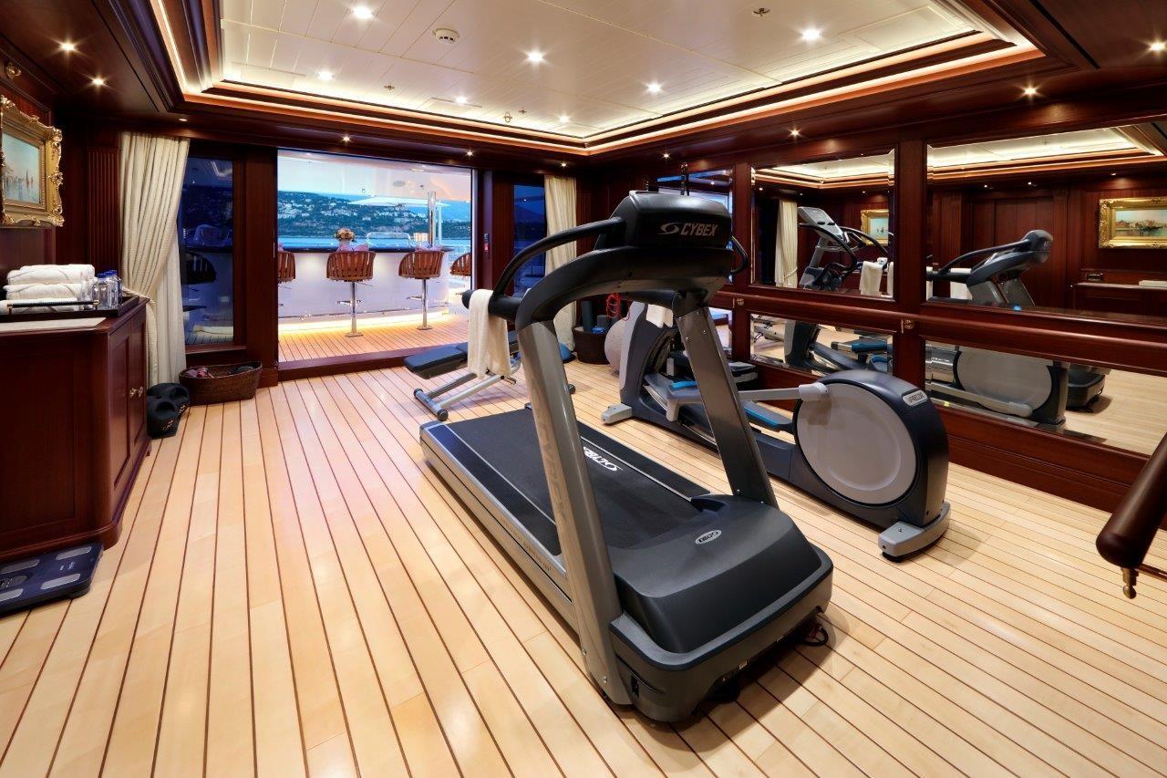 279 Lurssen Gym on Bridge Deck