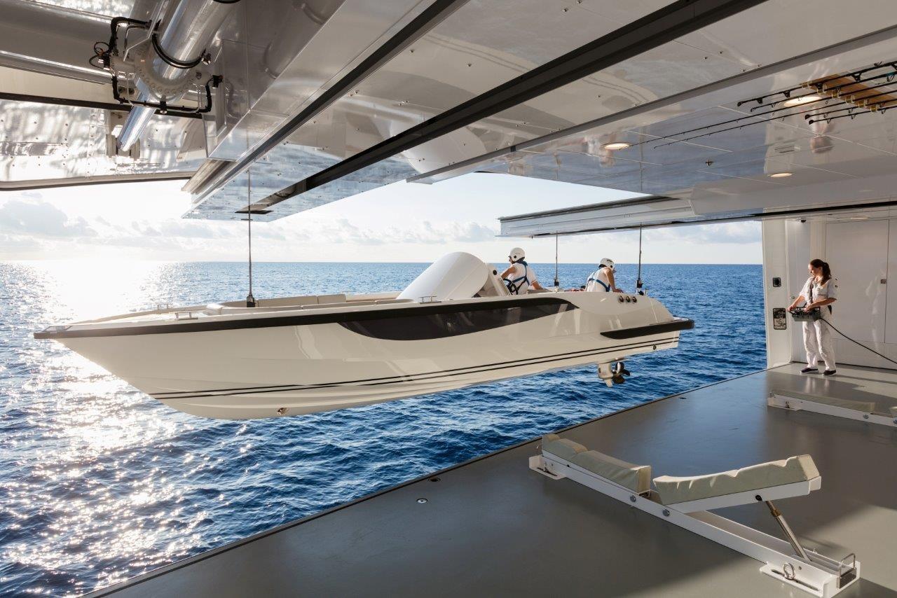 279 Lurssen Launching Starboard side 9m Sport Boat