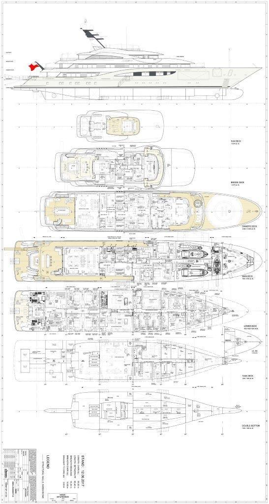 279 Lurssen General Arrangement Plan