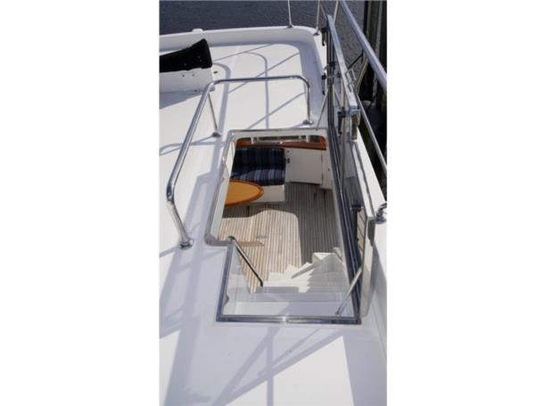 Molded Stairs from Flybridge to Aft Deck