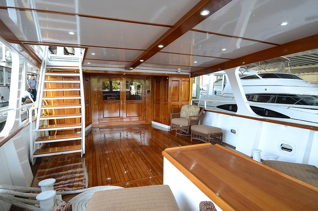 Aft Deck - Stairs to Upper Deck