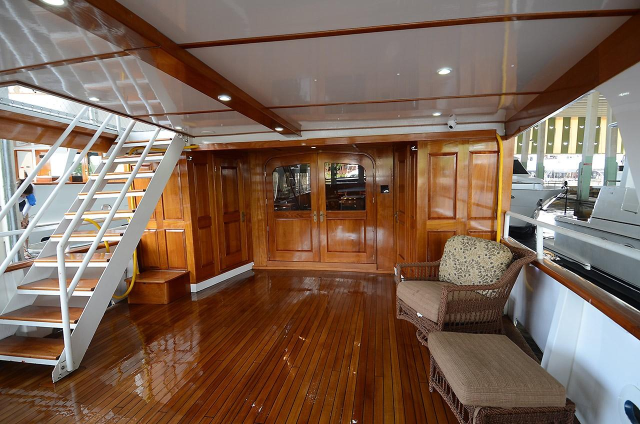 Aft Deck - Entrance to Salon