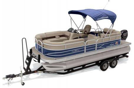 2019 Sun Tracker boat for sale, model of the boat is PARTY BARGE 22 w/ Mercury 115Hp 4S & Image # 3 of 17
