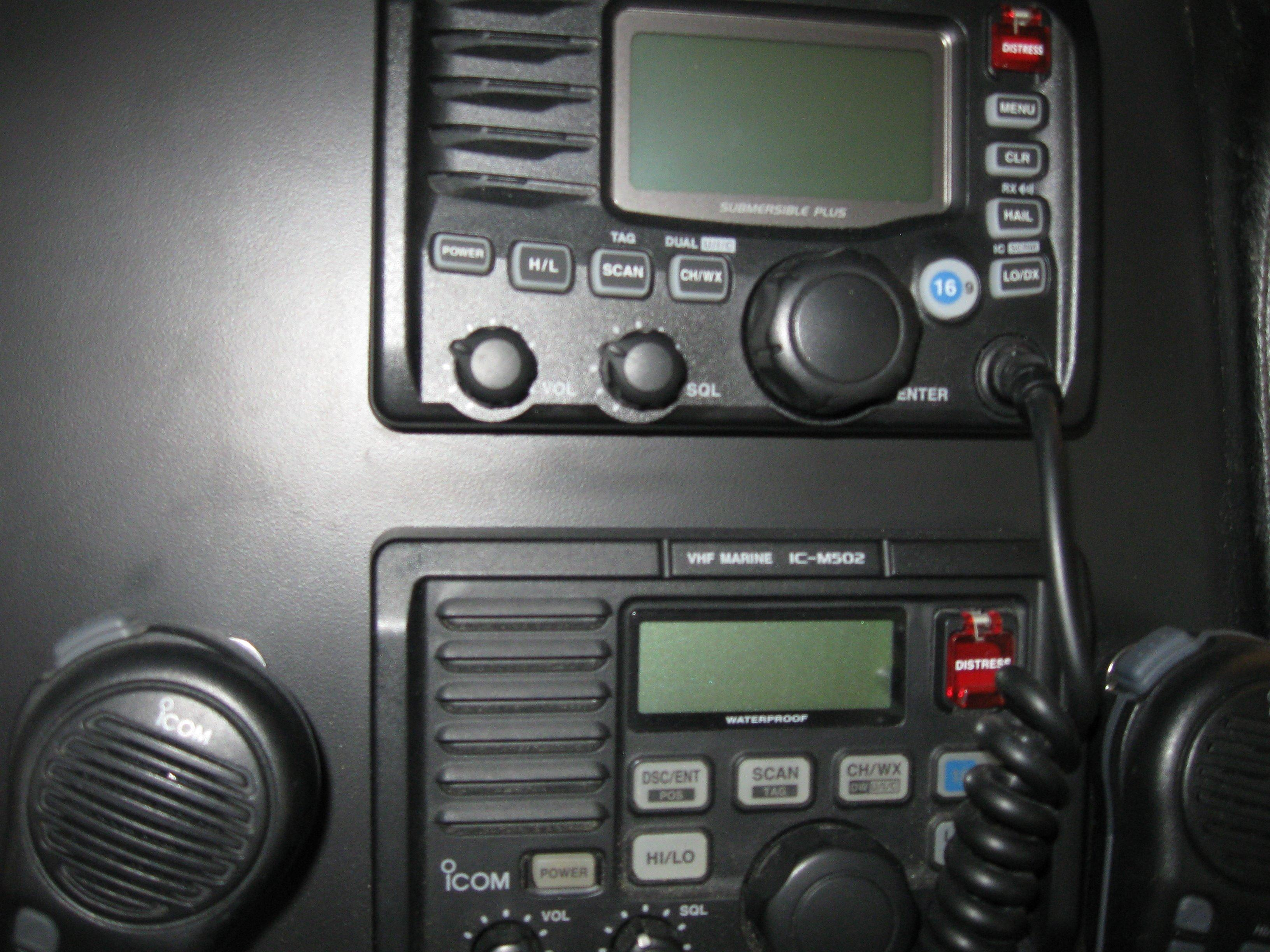 Twin Icom VHF radios