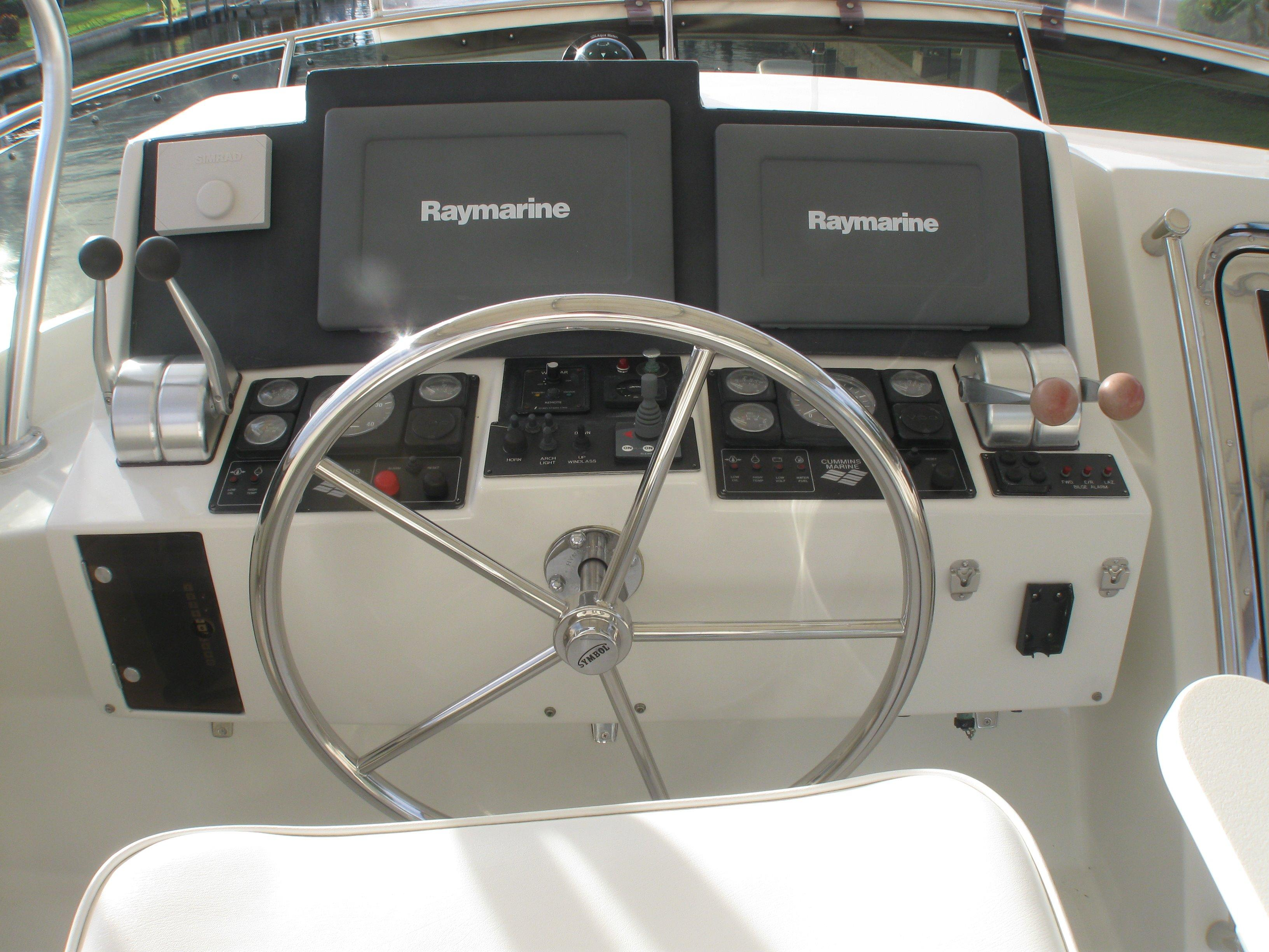 Upper helm controls