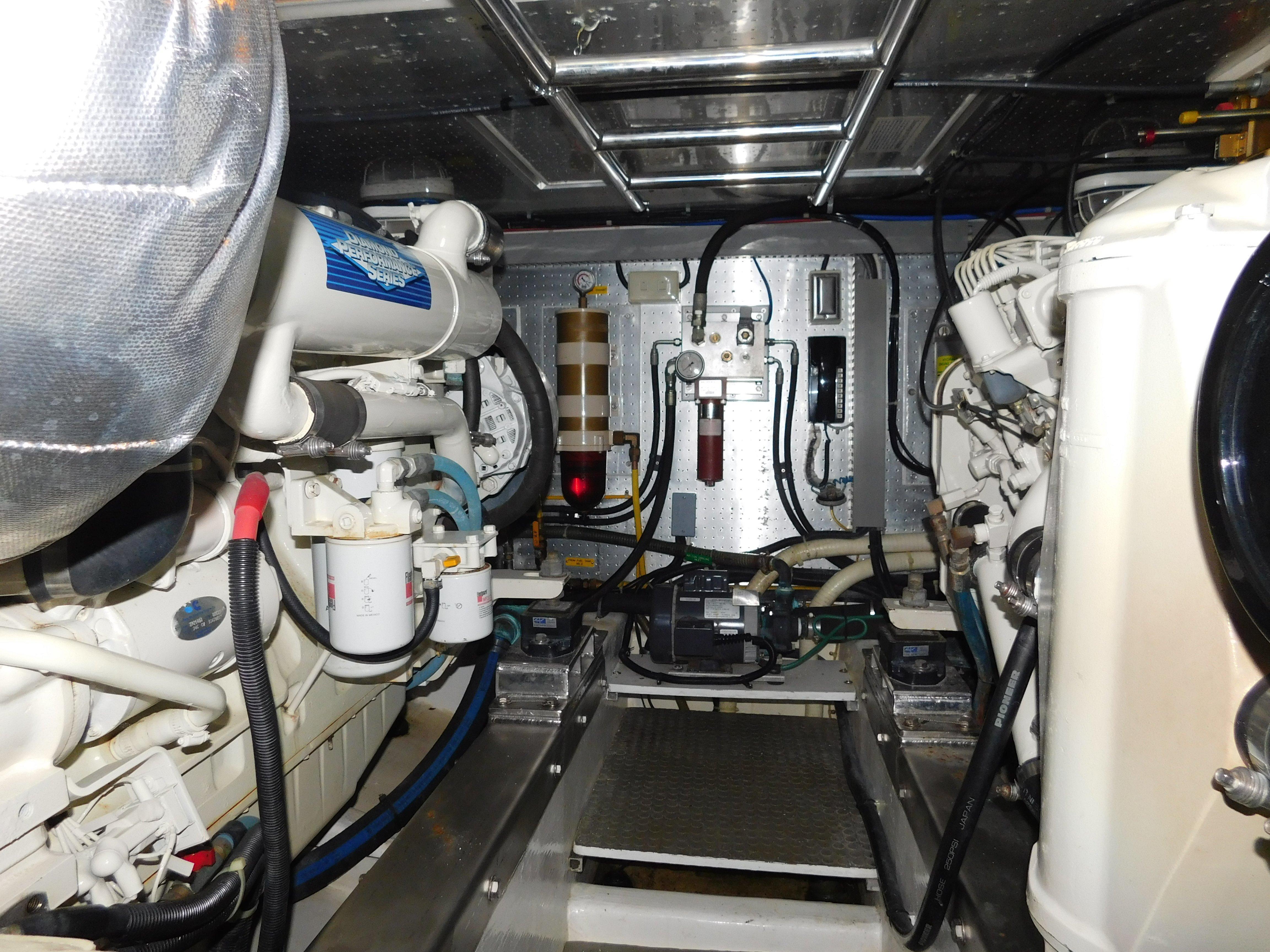 Clean engine room