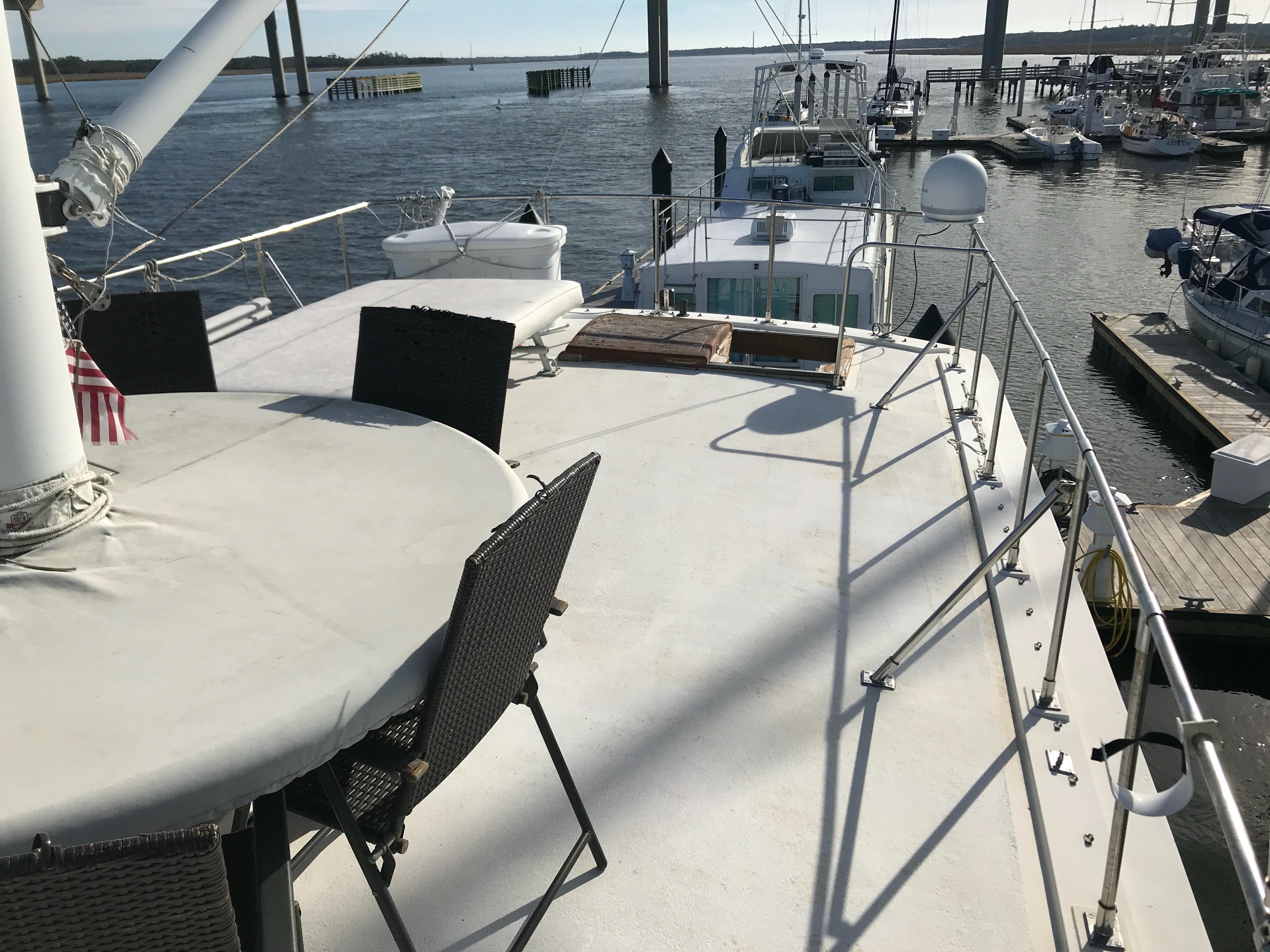 Marine Trader 50 Motoryacht - view aft from upper helm