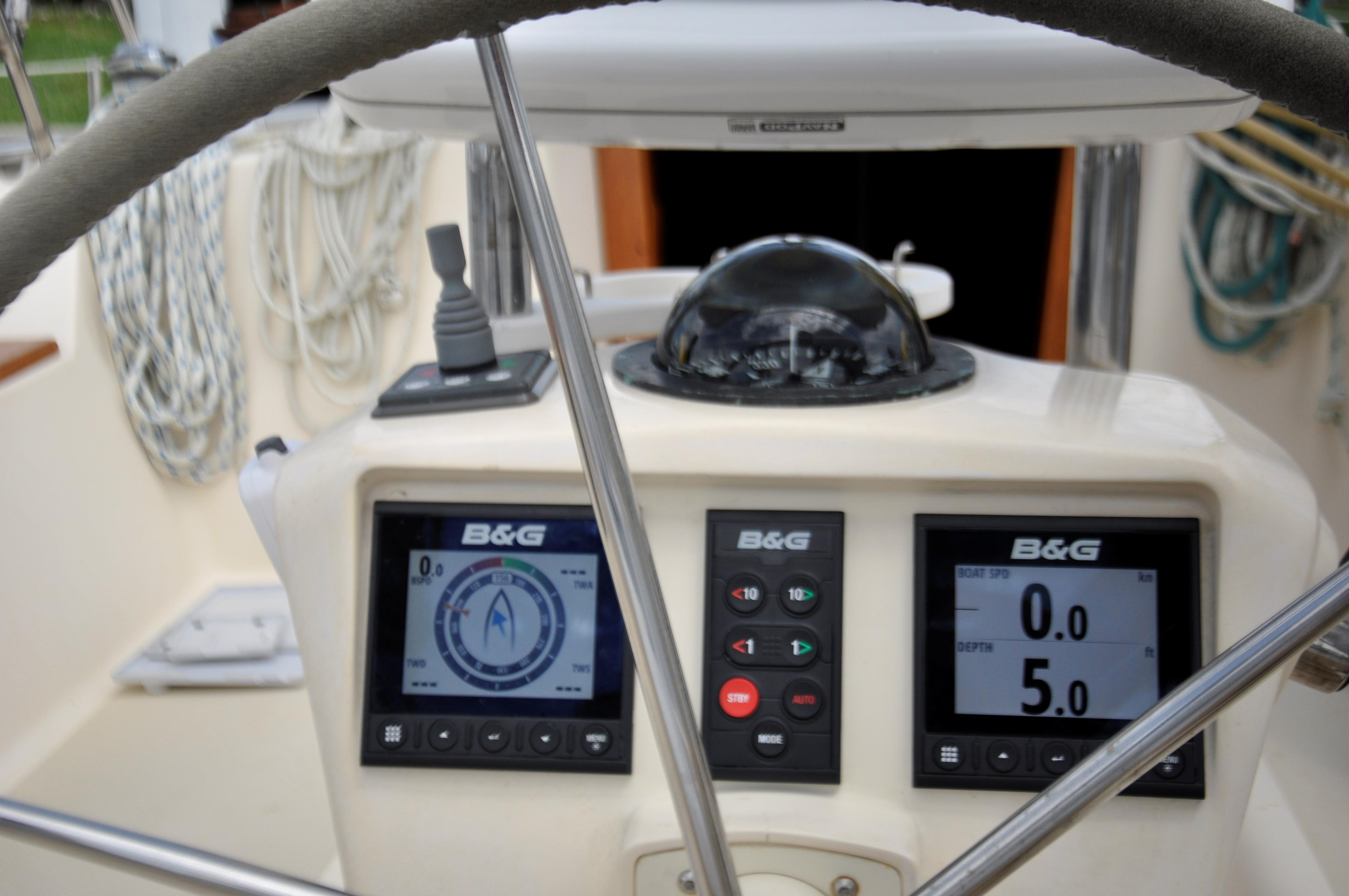 new B&G Triton displays and autopilot control