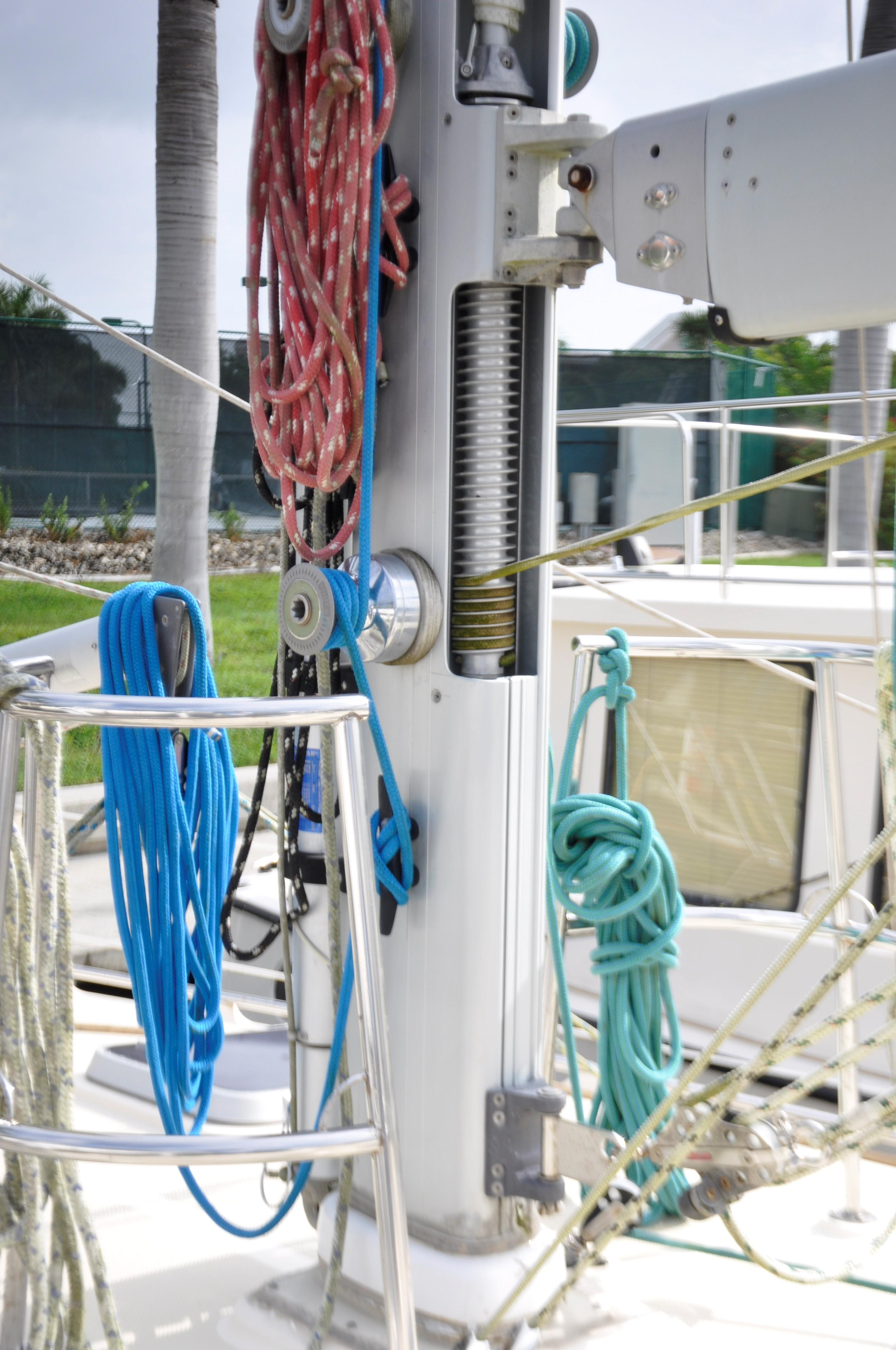 Roller furling mast