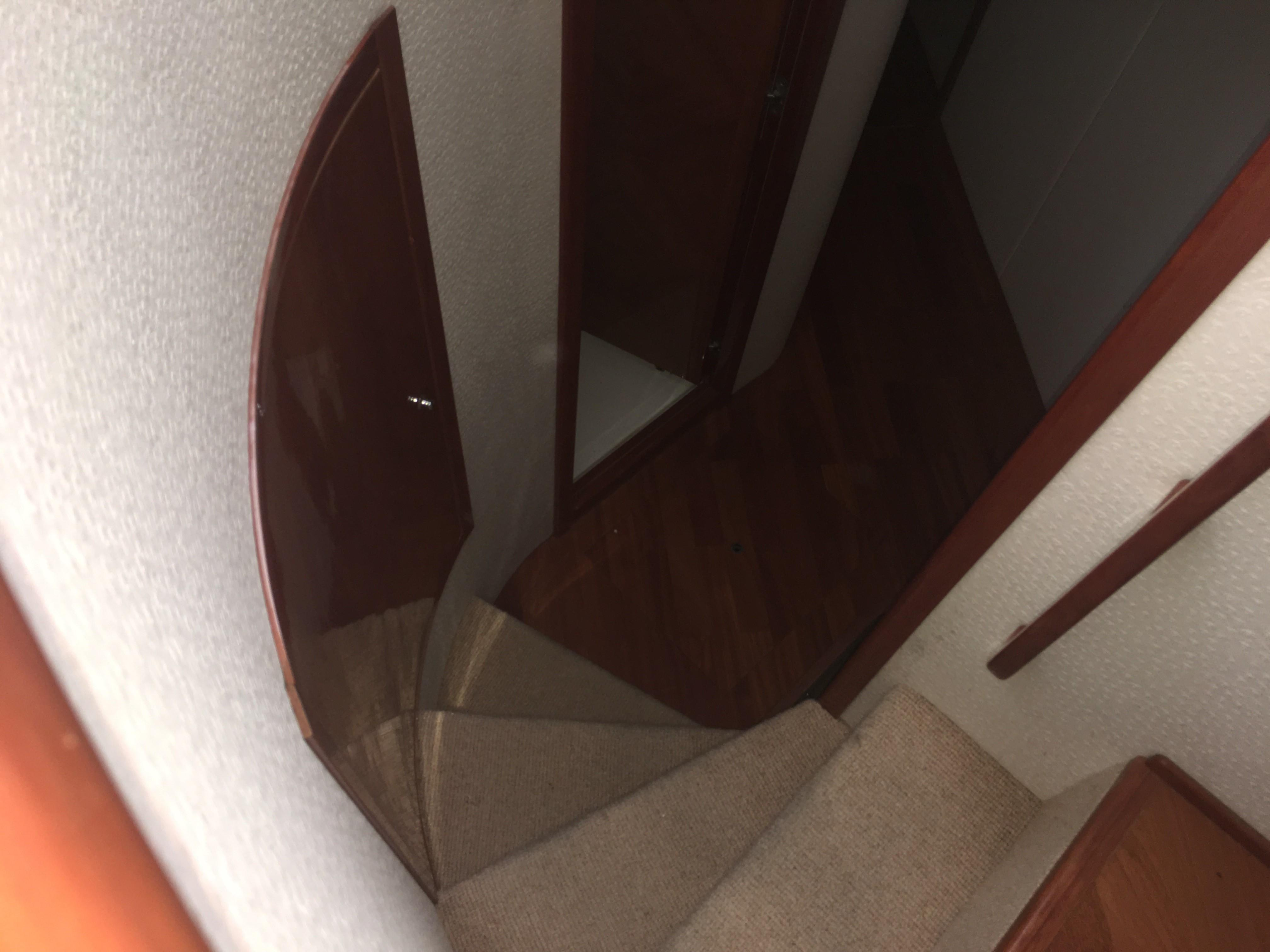 Looking down to staterooms