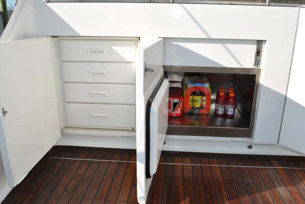 Tackle storage and freezer