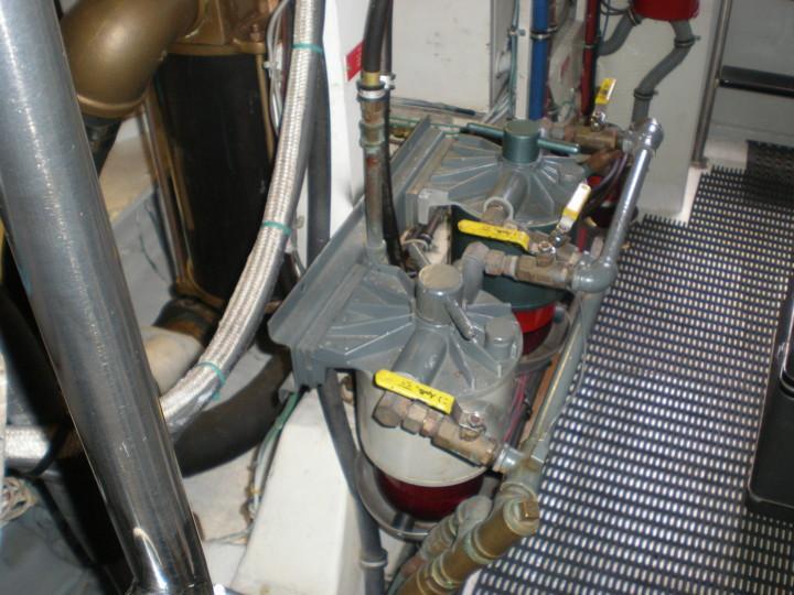 Fuel filtration starboard