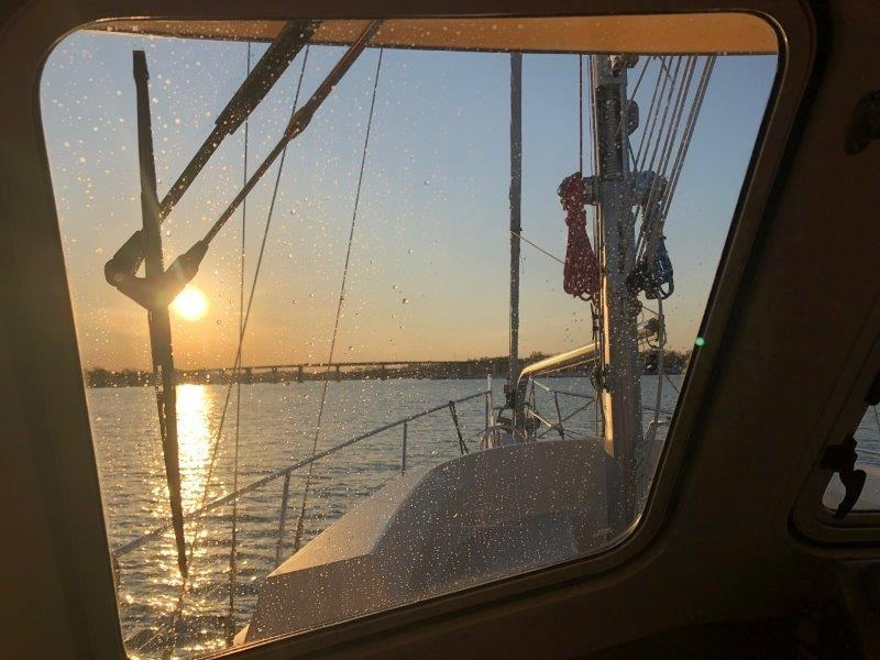 Warm and dry in the pilothouse