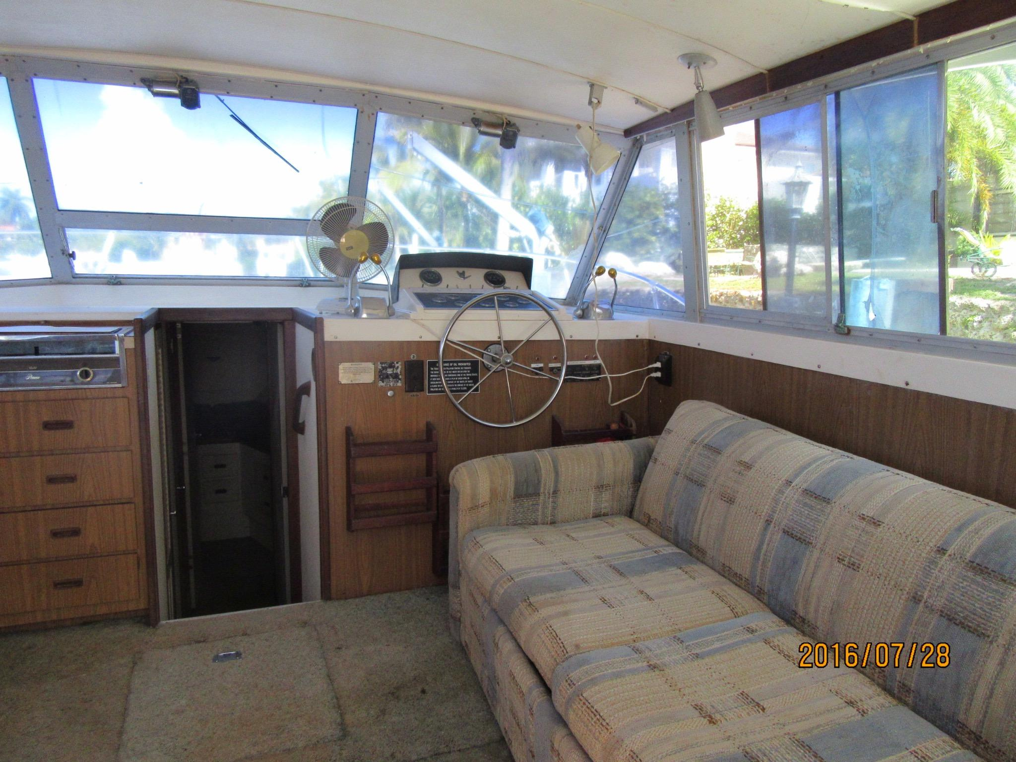 Helm Station With Ample Room For Lounging Area -View To Starboard