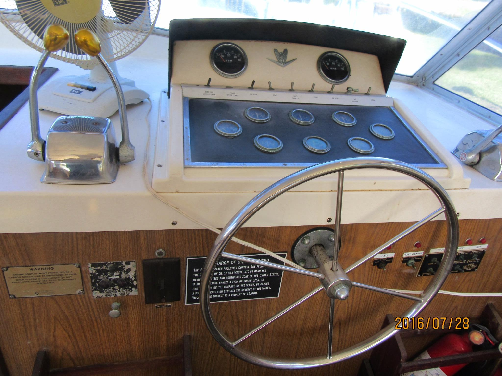 Helm Station - All Original - Most Gages Do Not Work