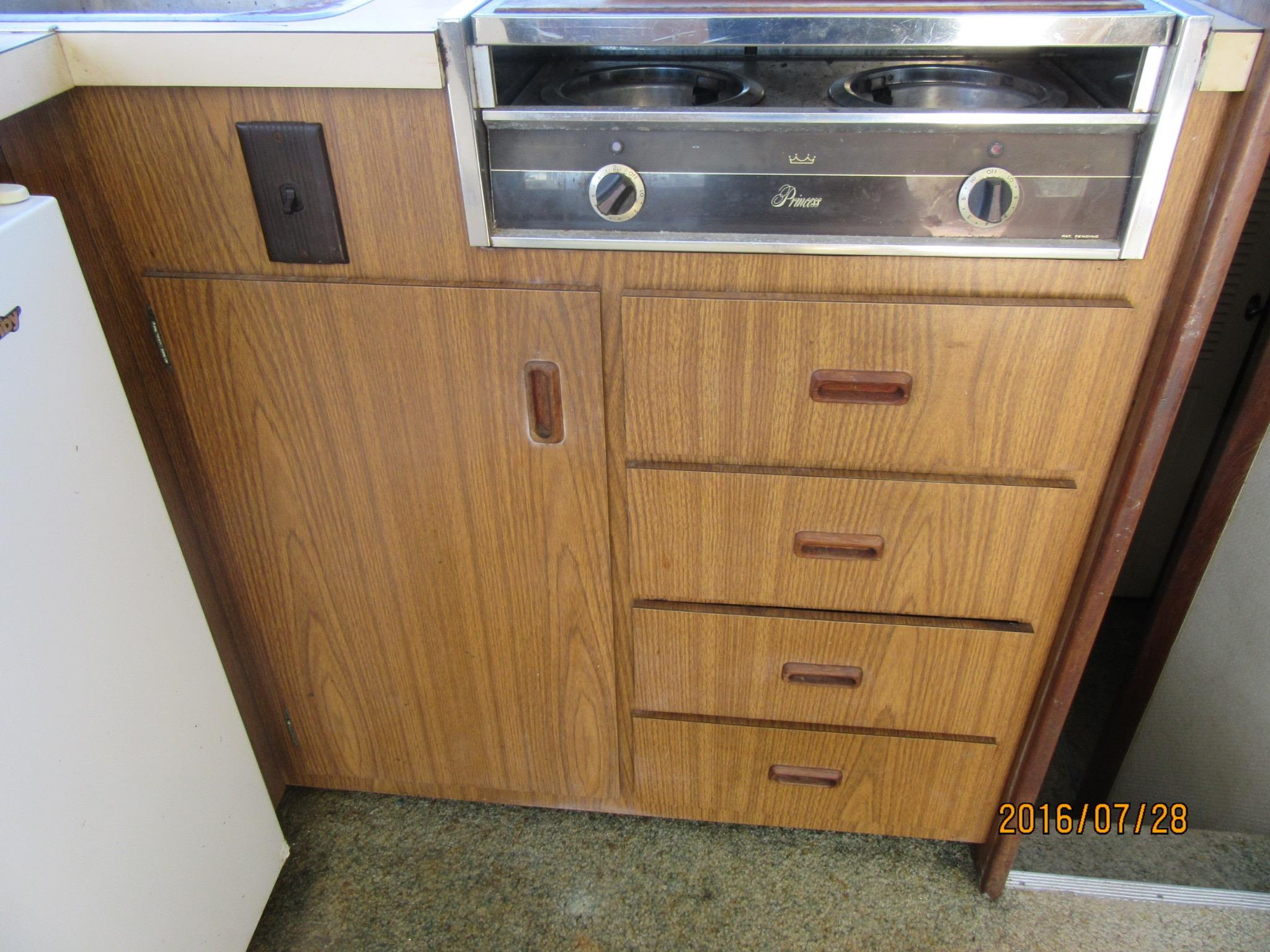 Original Cabinet And Bank Of 4 Drawers
