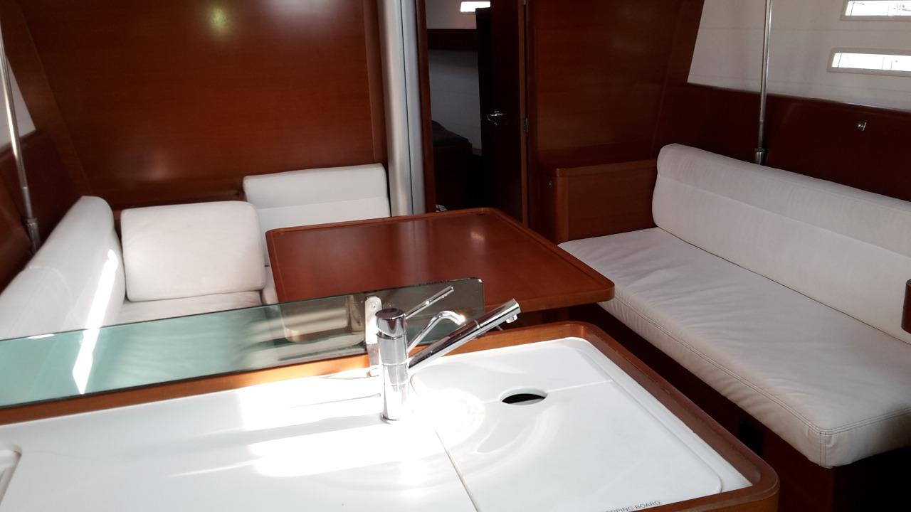 Dufour 40e Galley and Saloon