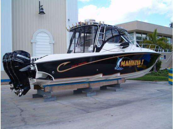 Fountain 38 Sportfish Cruiser OB Saltwater Fishing
