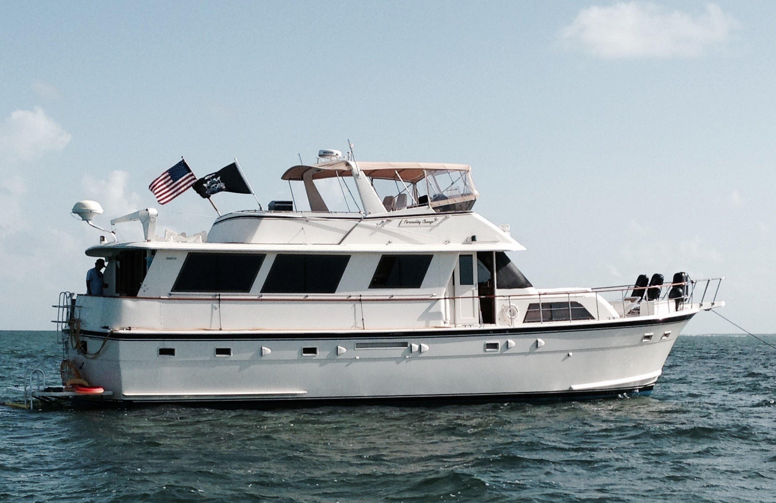 61 hatteras 1985 personality change for sale in miami for Used motor yacht for sale