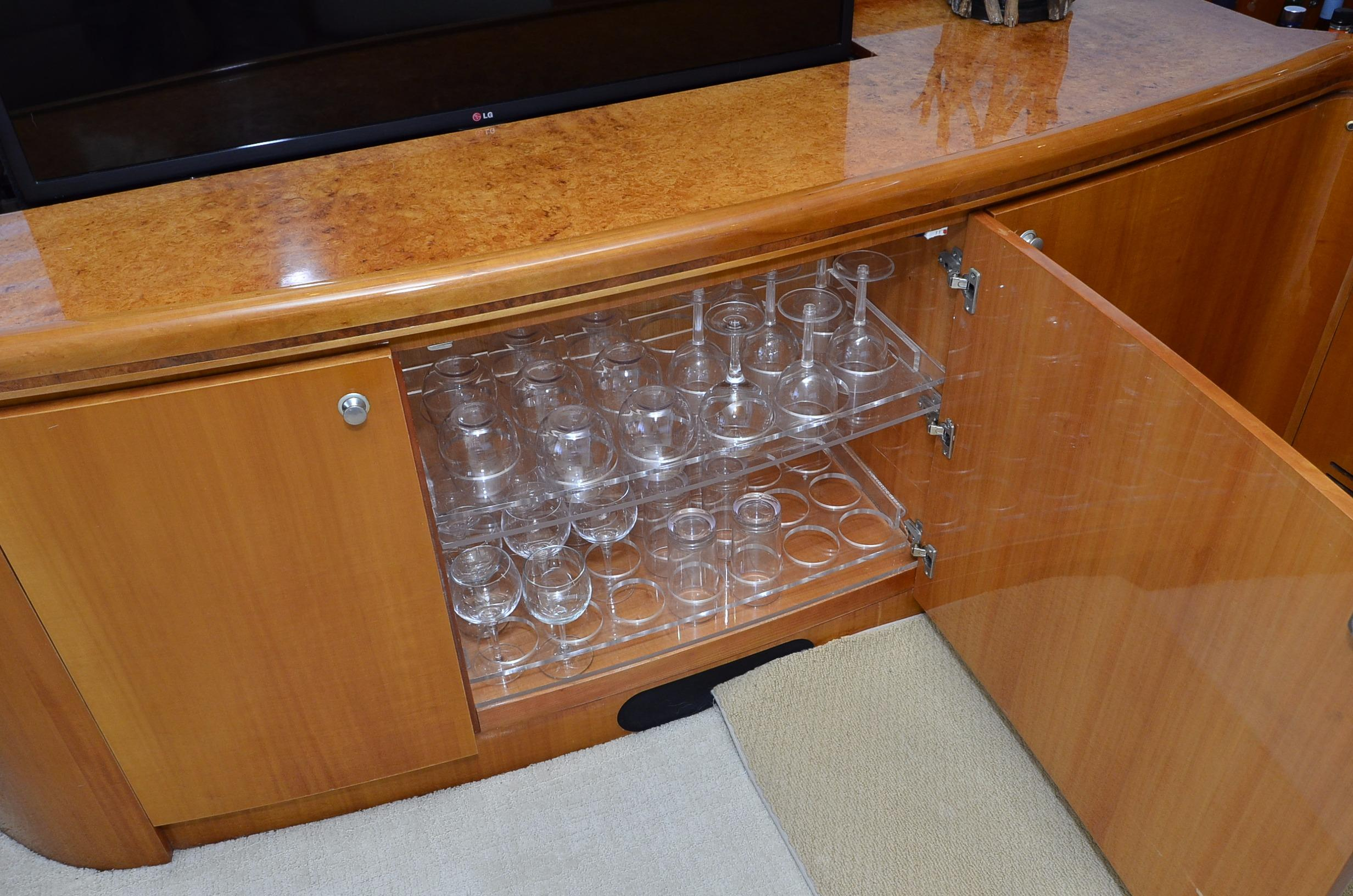 Custom Cabinet with Glass Storage