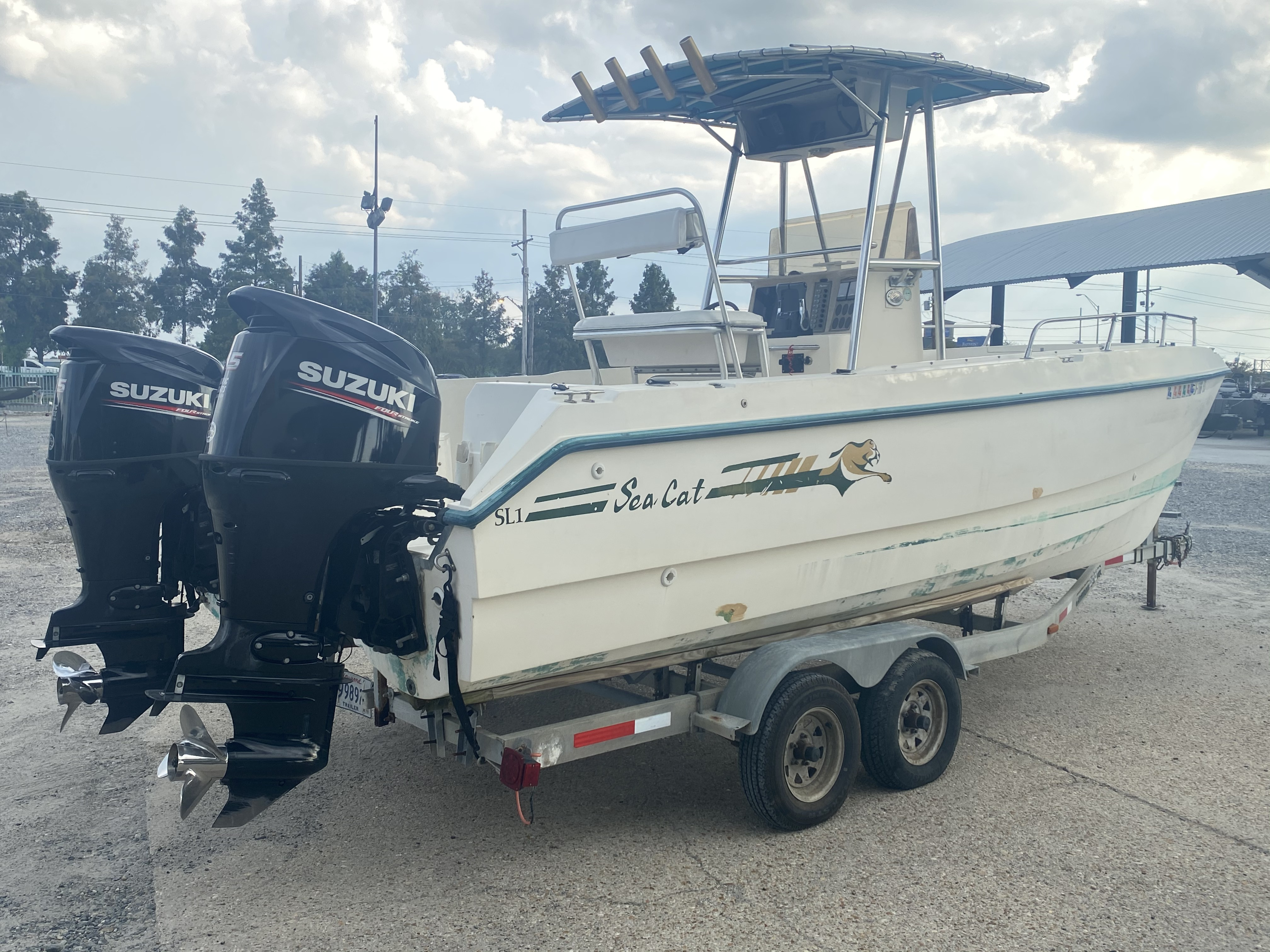 1996 Sea Cat boat for sale, model of the boat is 215 SL1 & Image # 2 of 25