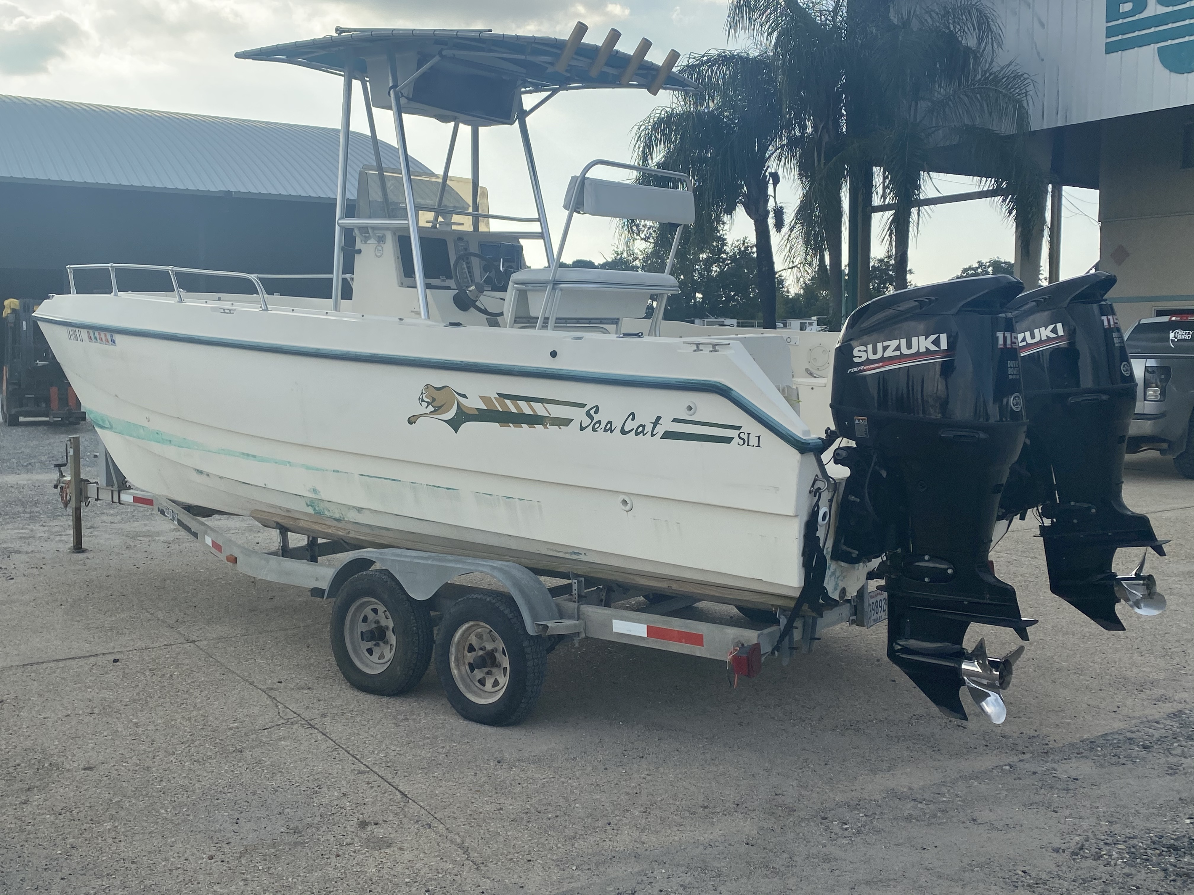 1996 Sea Cat boat for sale, model of the boat is 215 SL1 & Image # 5 of 25