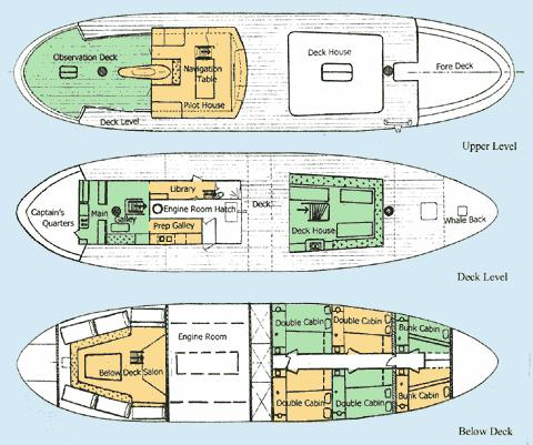 90 north sea trawler expedition passenger 1963 for Deck plans for sale