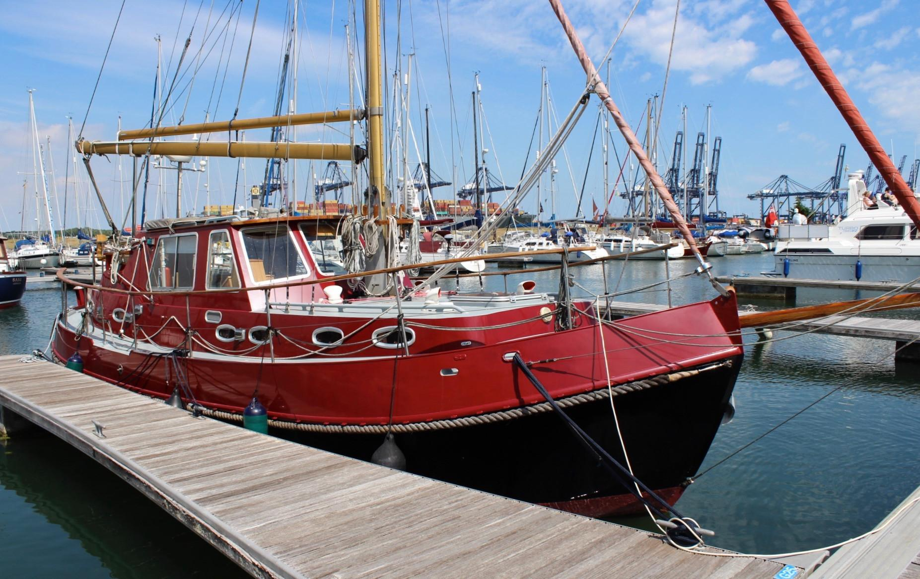 Peter Nicholls Steelboats Huffler 35 Steel Gaff Cutter